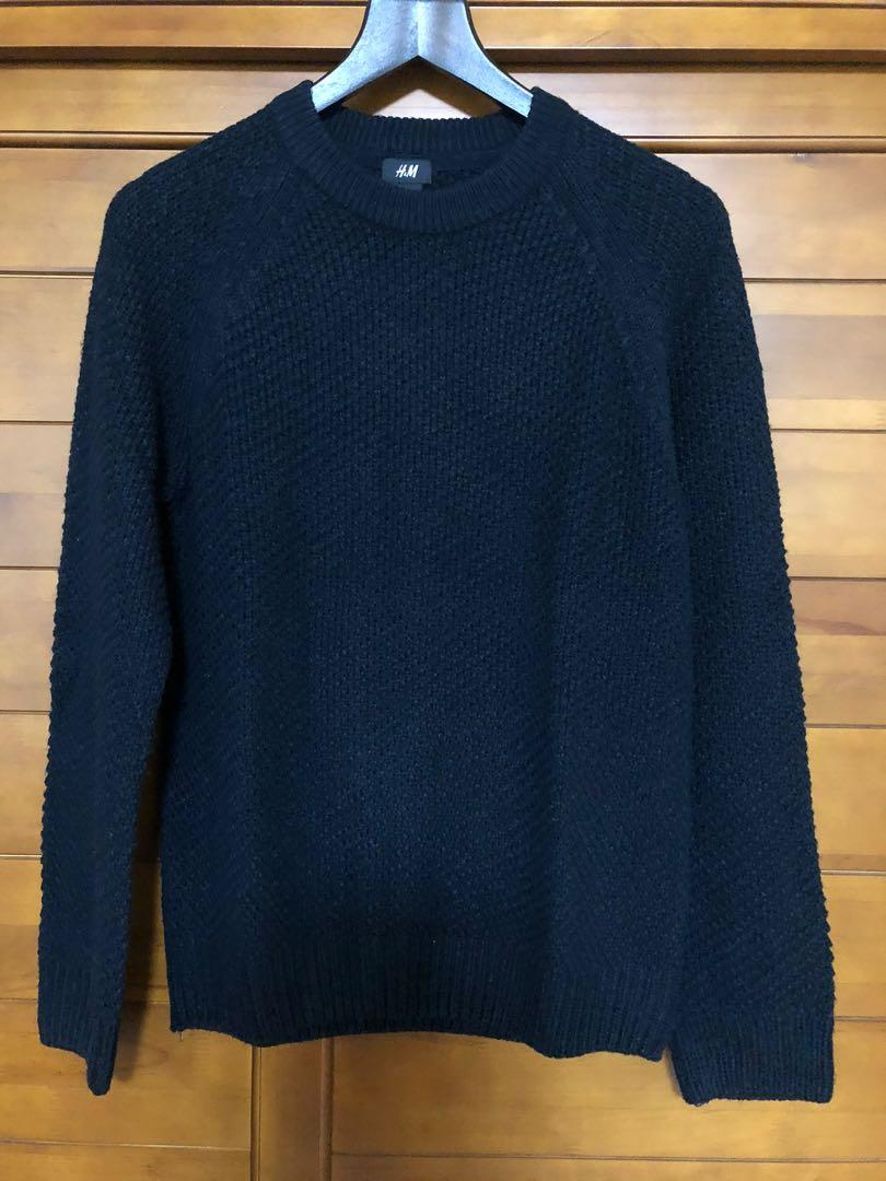 H&M 深藍色針織衣 Size: small