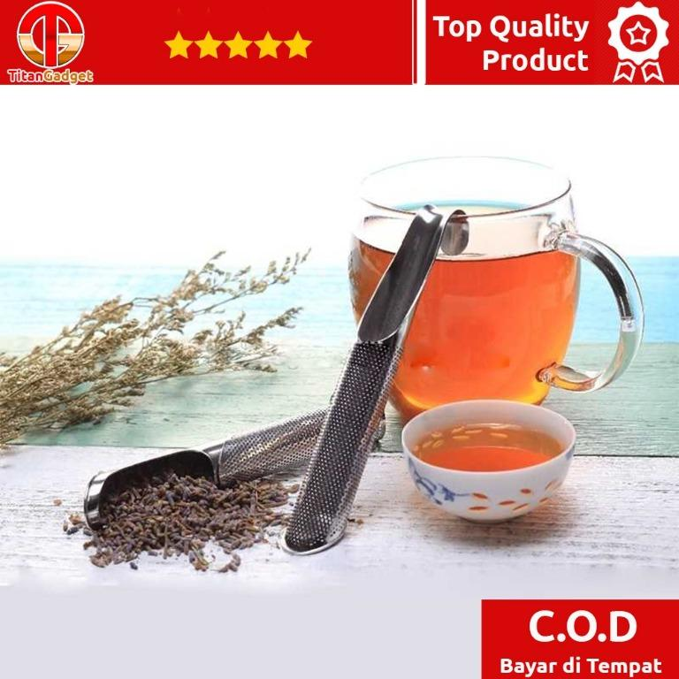 HOOMIN Filter Saringan Infuser Teh Ramuan Herbal Stainless Steel - G12 Titangadget