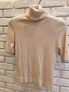 👛百貨公司品牌Jessica 👗高領短袖羊毛衣