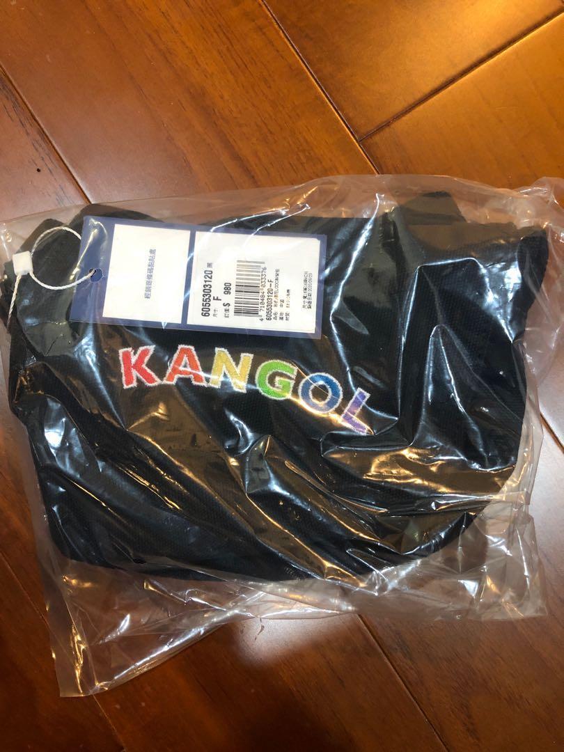KANGOL-彩虹郵差包-黑色