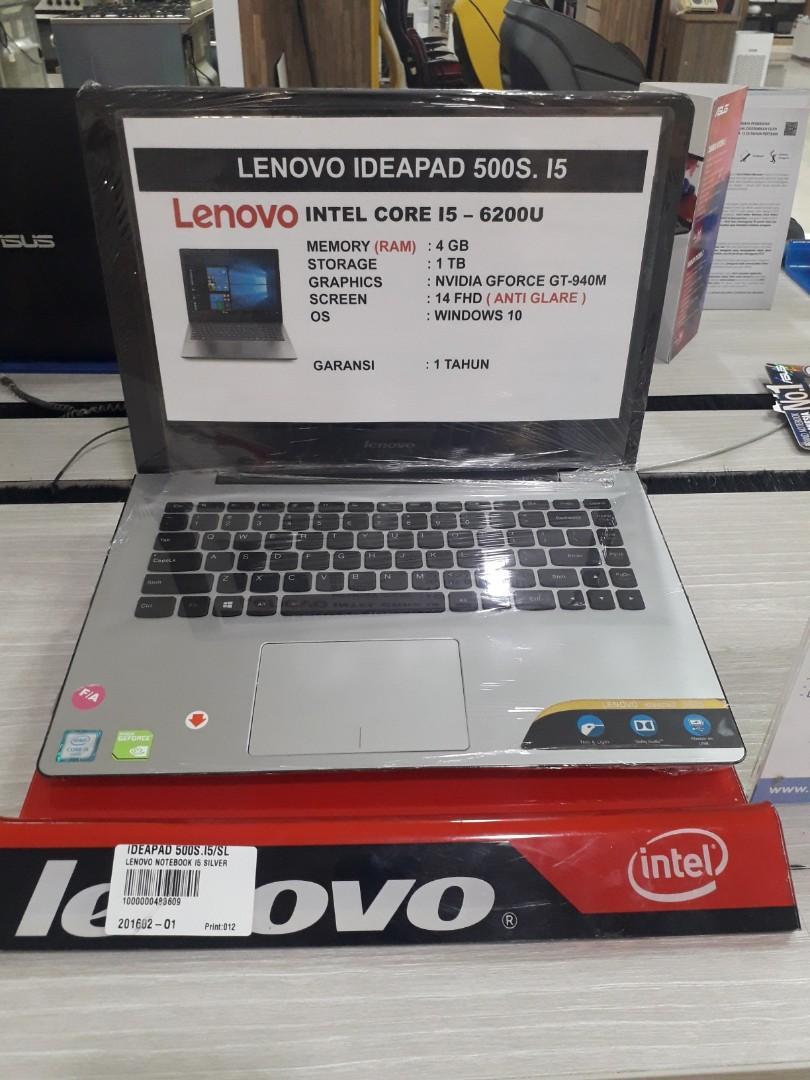 LENOVO NOTEBOOK I5 SILVER IDEAPAD 500S.I5, cicilan tanpa CC