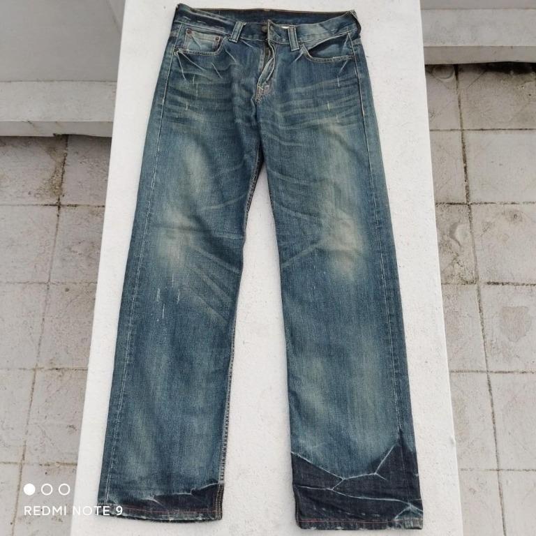 ♥️Levis Relaxed Fit刷破直筒牛仔褲(W32L34)