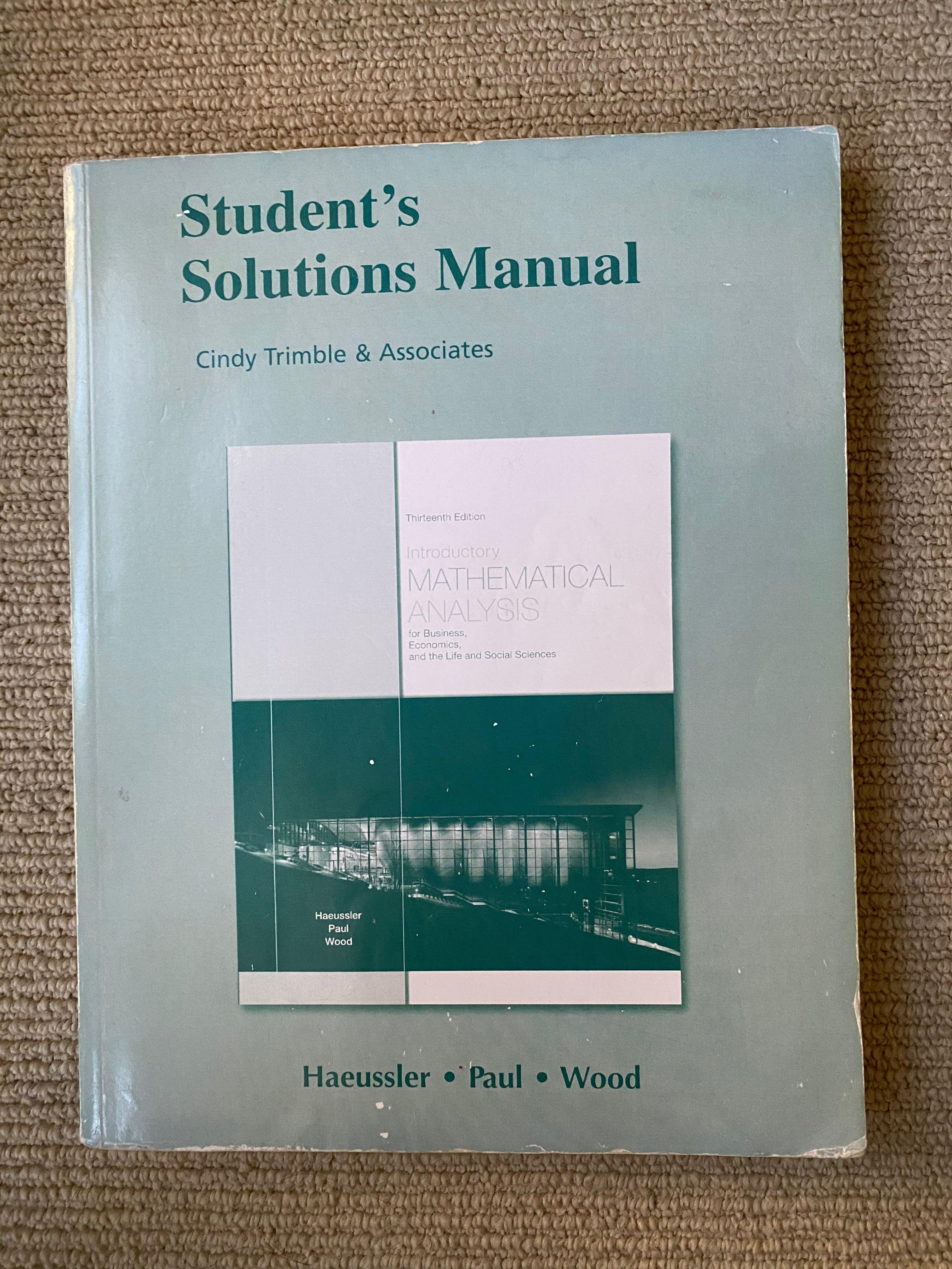 Mathematical Analysis Student's Solution Manual