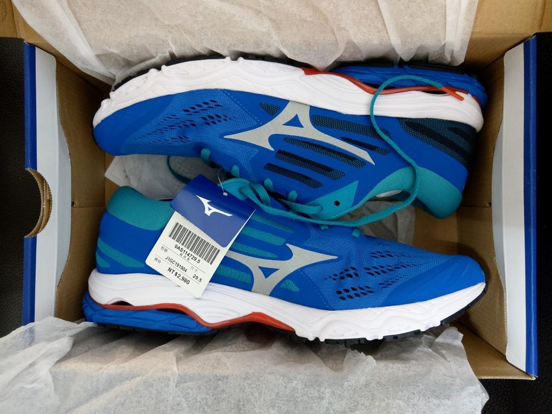 Mizuno 美津濃 男慢跑鞋 WAVE STREAM 2 藍色 29.5公分 全新未剪標 J1GC191904
