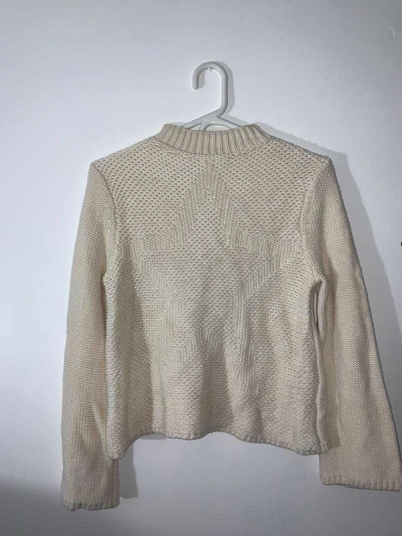 Mock Neck Star Knitted Sweater