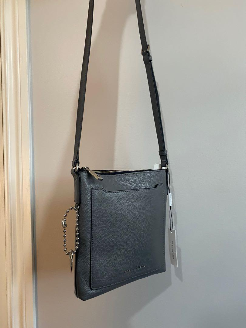 *NEW WITH TAGS* Marc Jacobs grey leather crossbody messenger bag