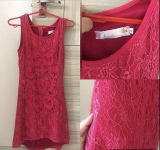 Ohvola dark pink lace dress