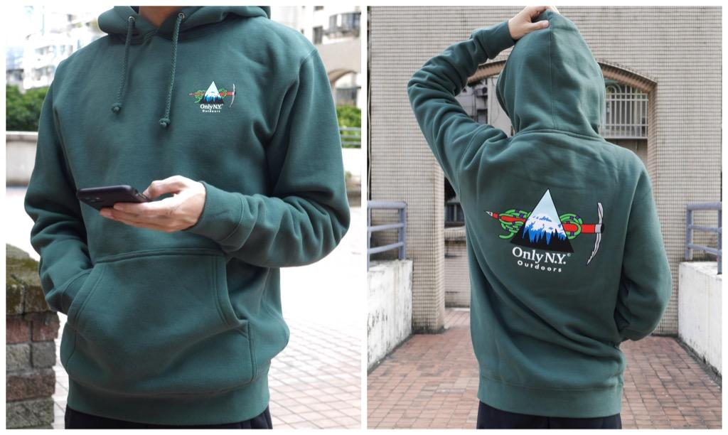 Only NY 帽T Winter Expedition Hoodie 綠色 長袖 刷毛 保暖 連帽