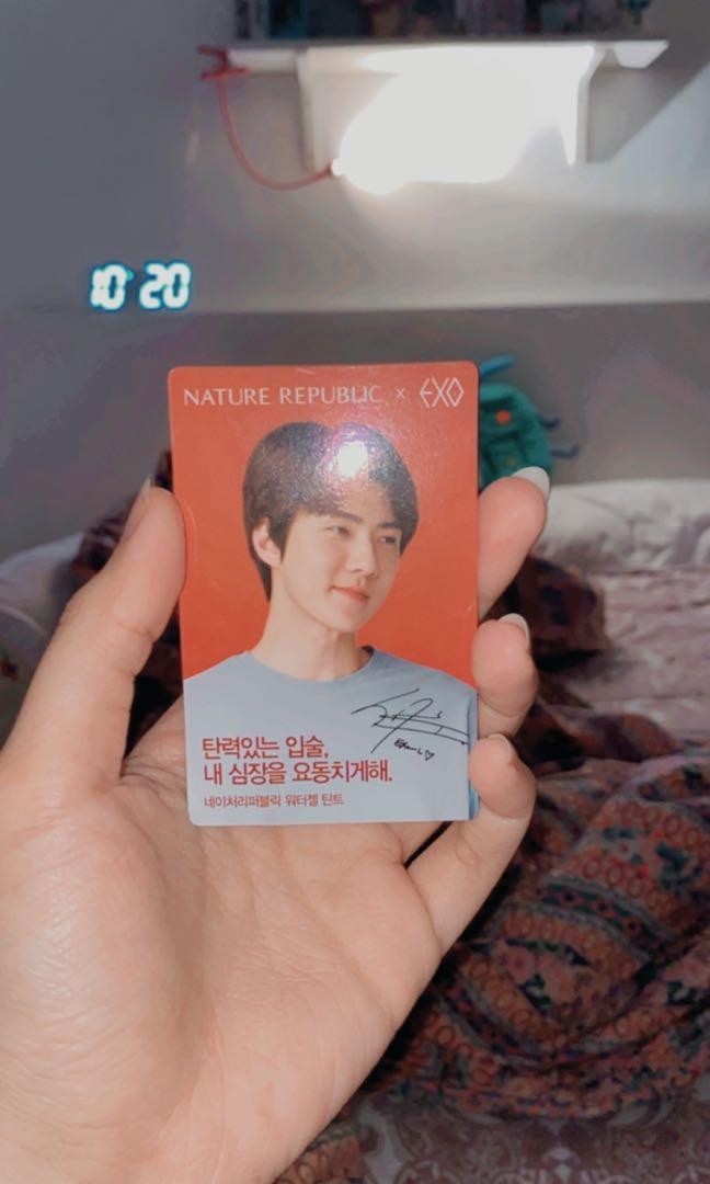 Photocard PC EXO Sehun Nature Republic