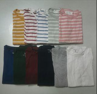 Plain/Striped Long Sleeves Take All