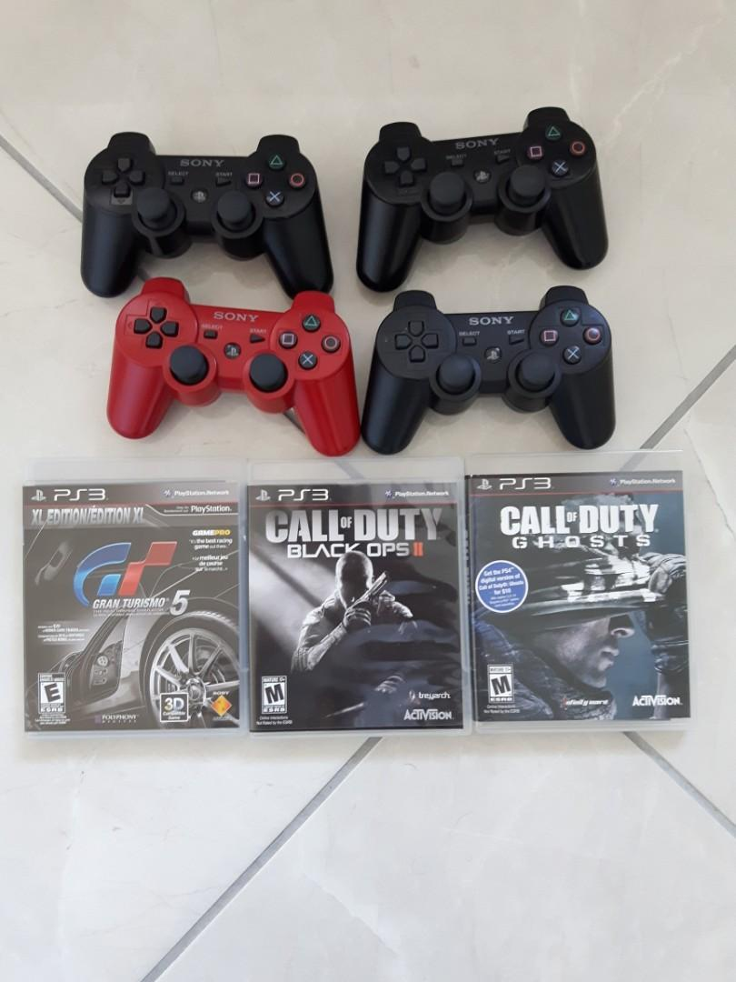 Playstation 3 (250gb) Console + 4 Controllers + 10 Games