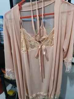 Pluffy's choice ivy lingerie nightgown - soft pink Pluffys Choice
