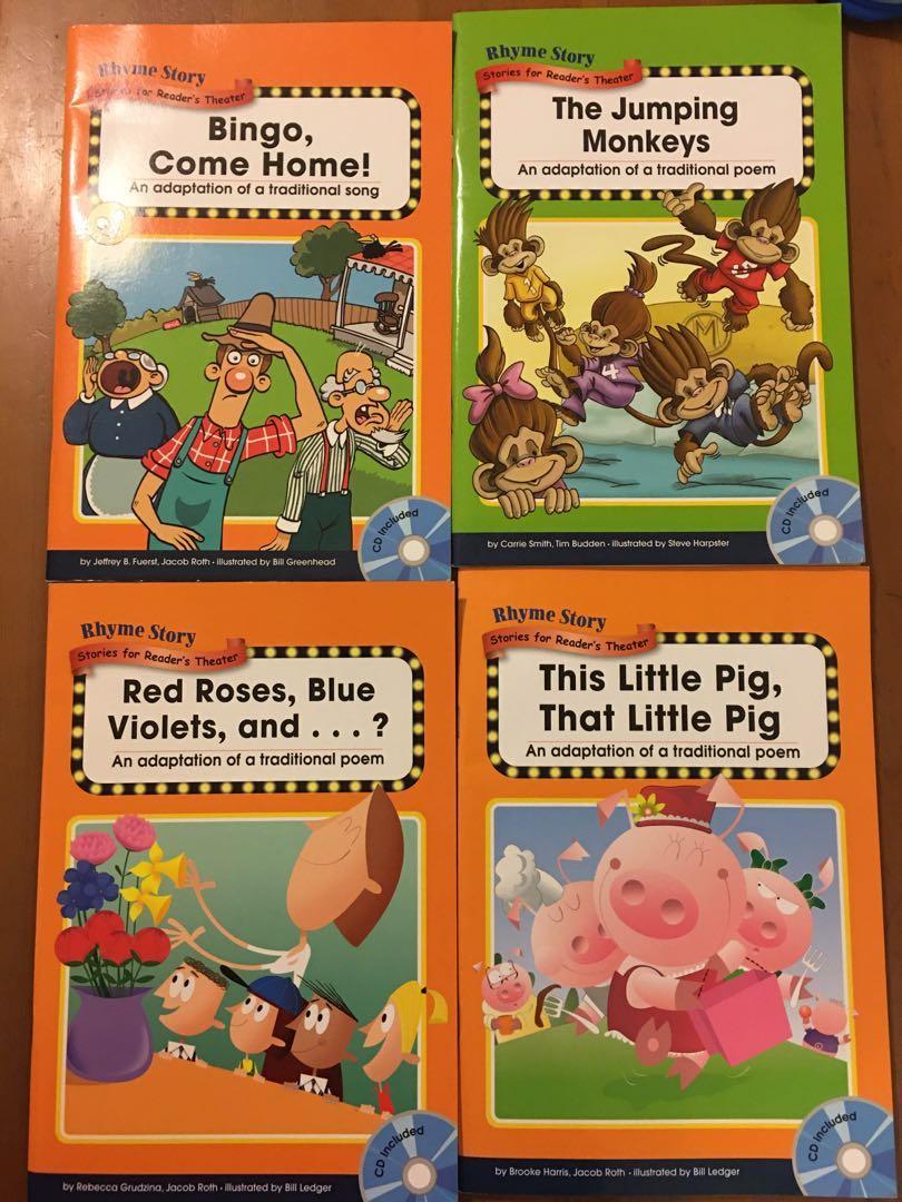 佩佩豬全套、敦煌Rhyme Story系列英文CD童書練習書