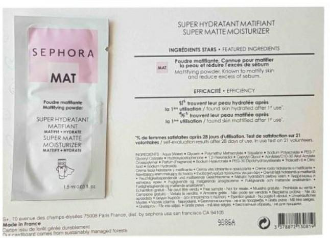 Sephora Collection Matifiante Hydratant