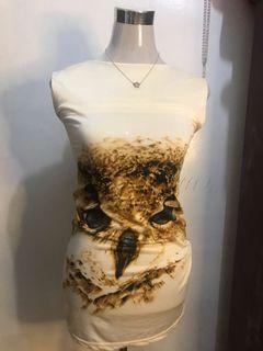 Silk Owl Mini Dress