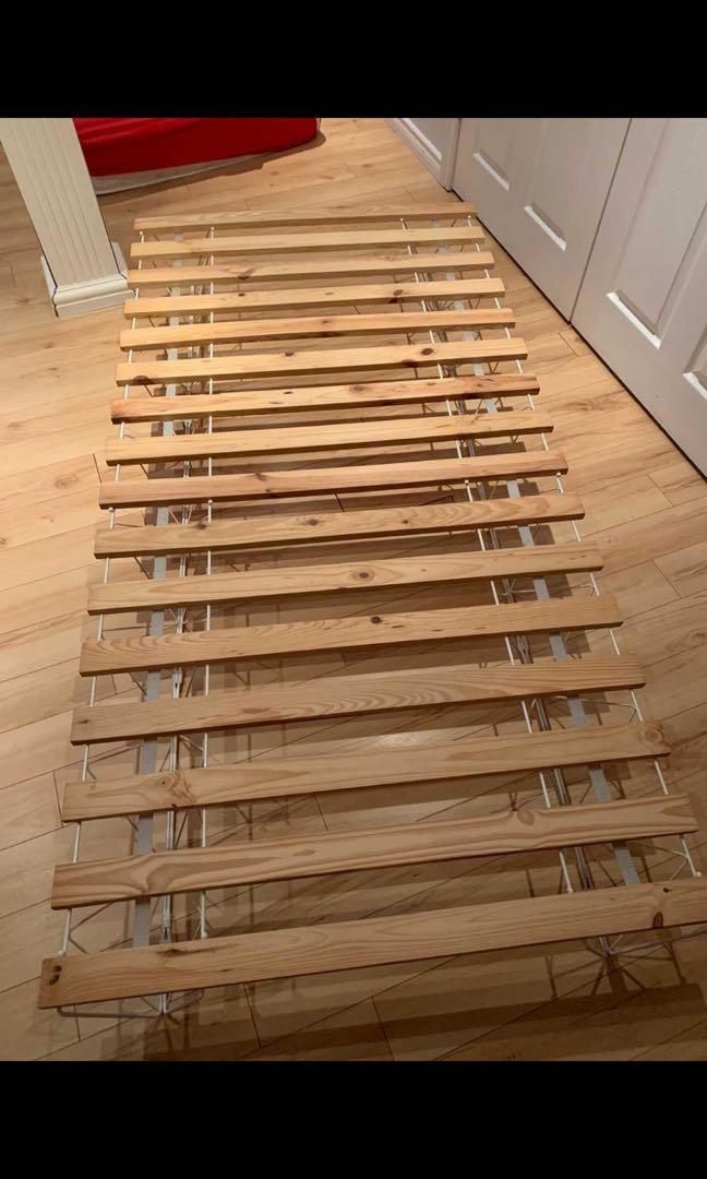 Single IKEA bed base and mattress