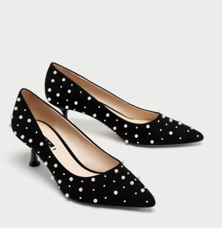 Zara pearl heels