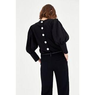 Zara Top With Voluminous Sleeves