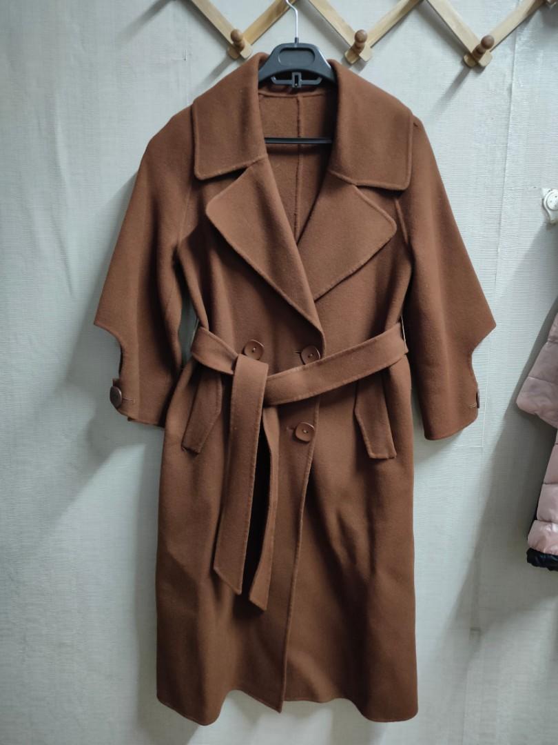 100%羊毛大衣。