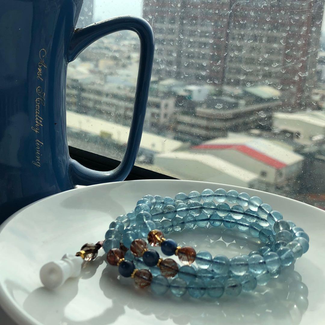 108 #海水藍寶 #藍晶 #水晶