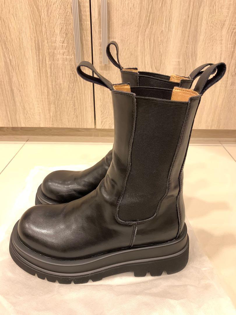 韓-網紅真皮中筒靴-24