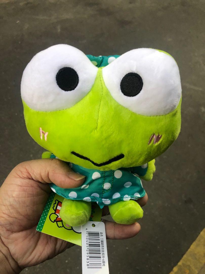 正版三麗鷗大眼蛙少見雨衣款6吋