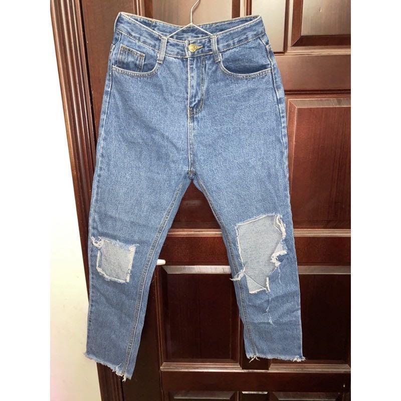 大破壞👾隨性風9分牛仔褲