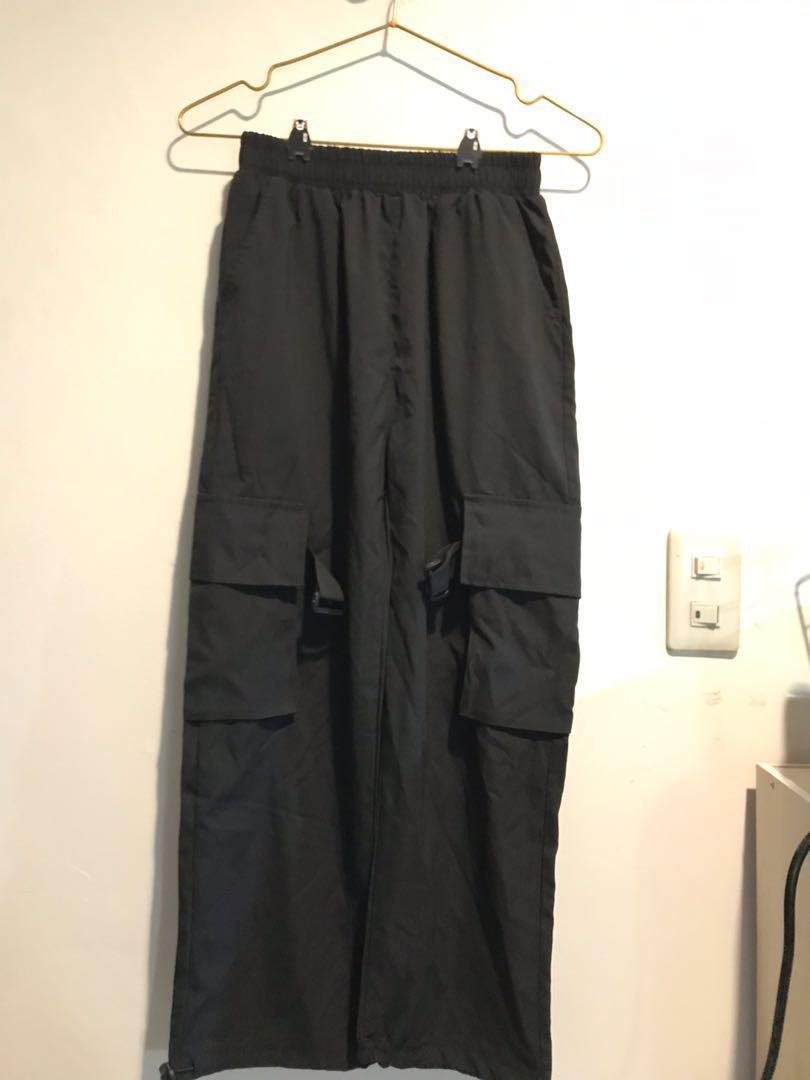 熱舞社工裝黑色長褲