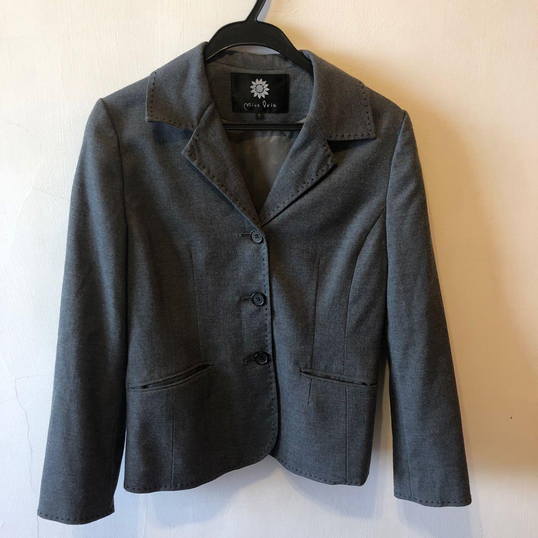 古著灰色西裝外套 / 可議