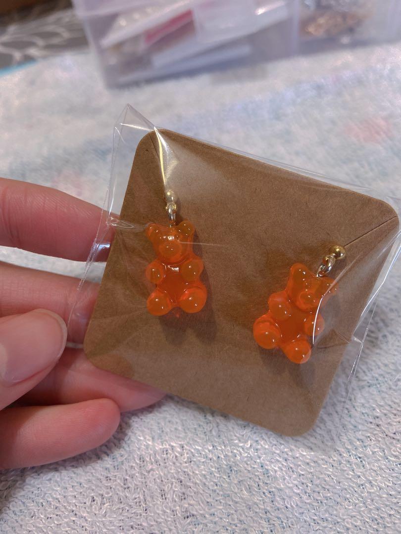 小熊軟糖耳環(可免費改夾式)