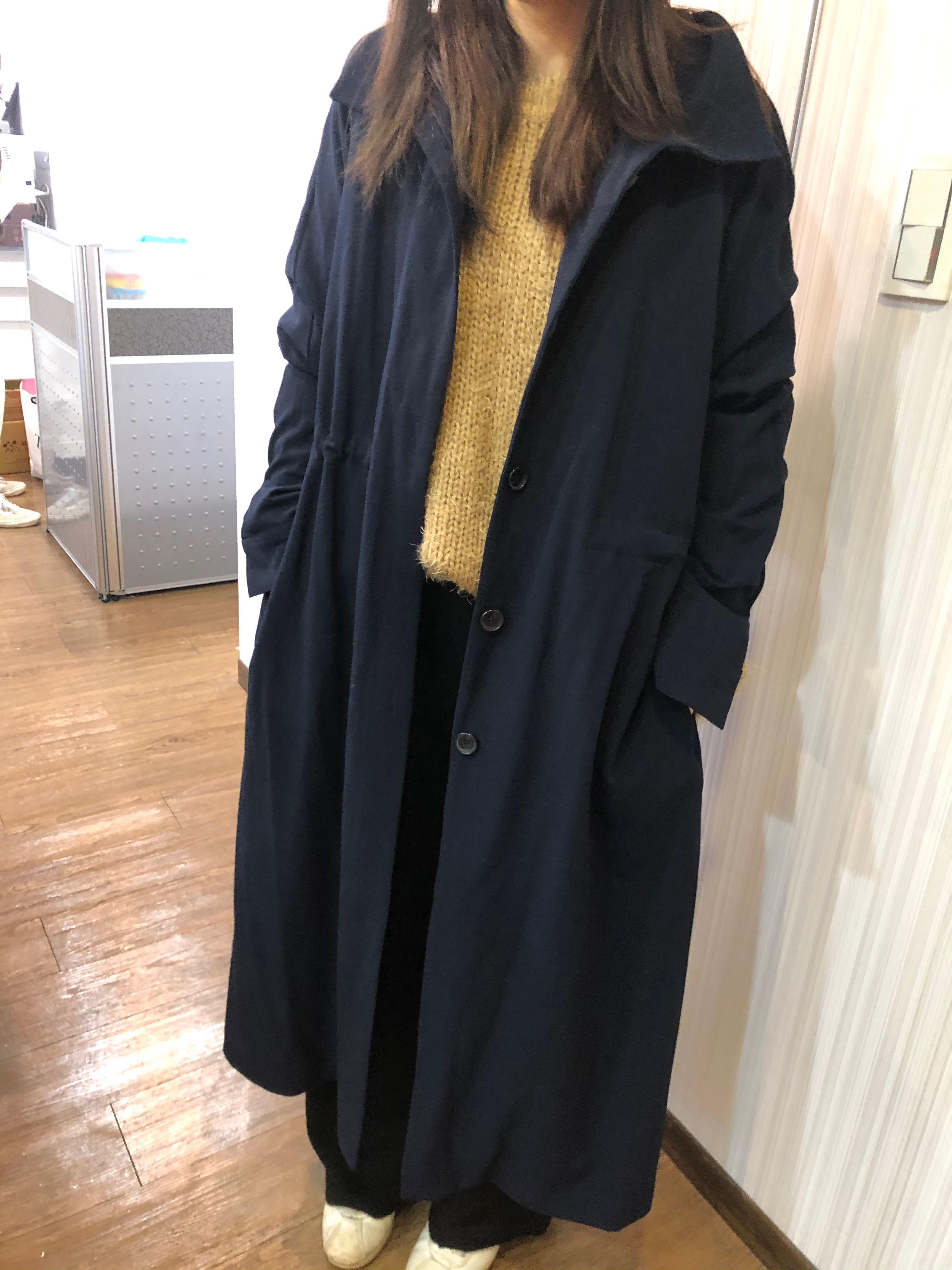 正韓貨-長版披風外套