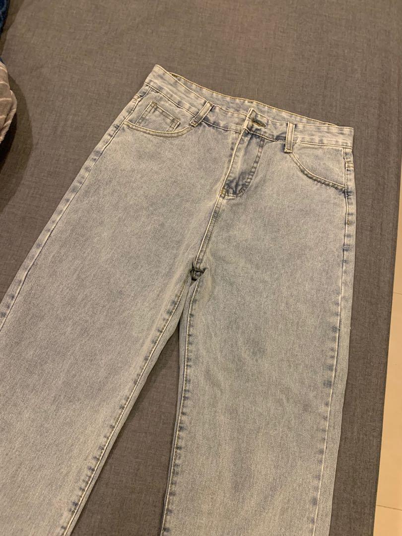 古著寬版牛仔褲