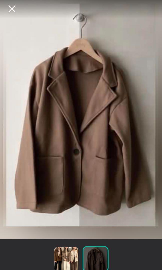 咖啡色西裝外套