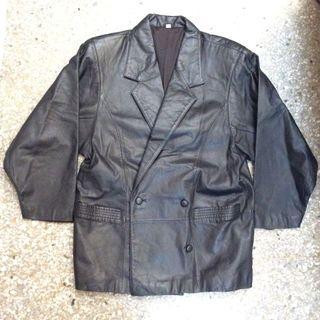 真皮皮衣,中長版外套,義大利羊皮,不是合成皮