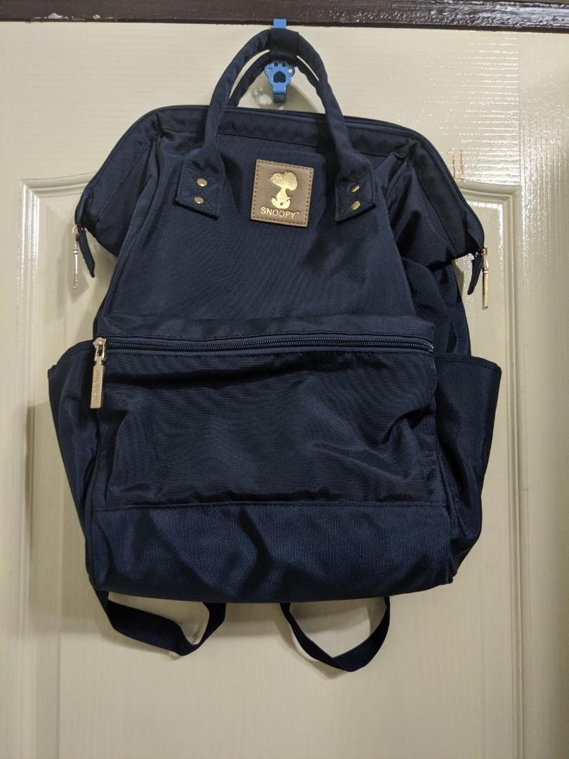 史努比深藍色後背包