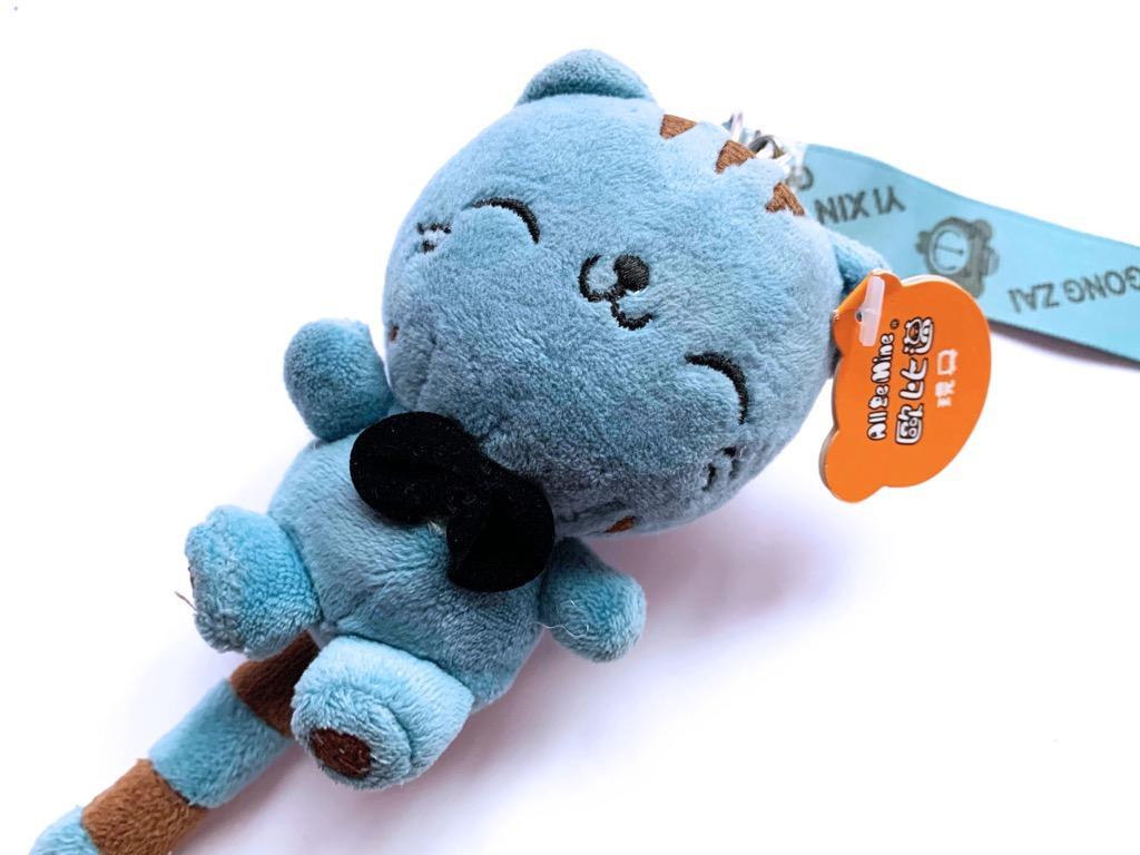 (出清)藍色小貓貓吊飾