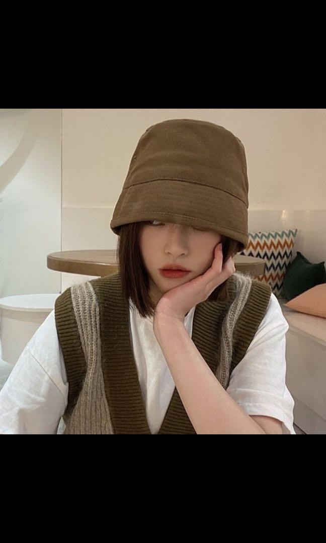 新品日系小綜短版漁夫帽(咖色)只有一頂
