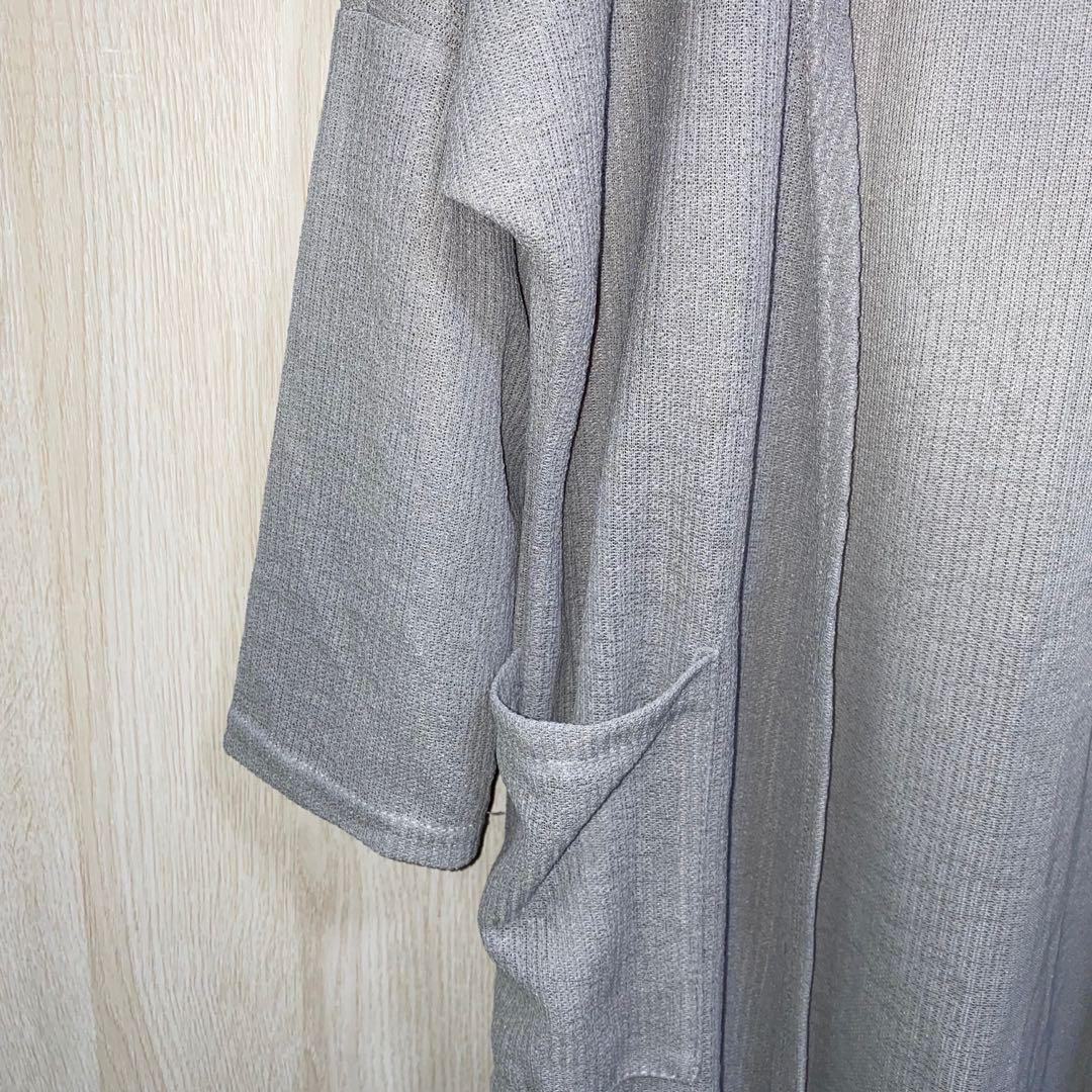 きこ。灰灰針織罩衫(無釦)