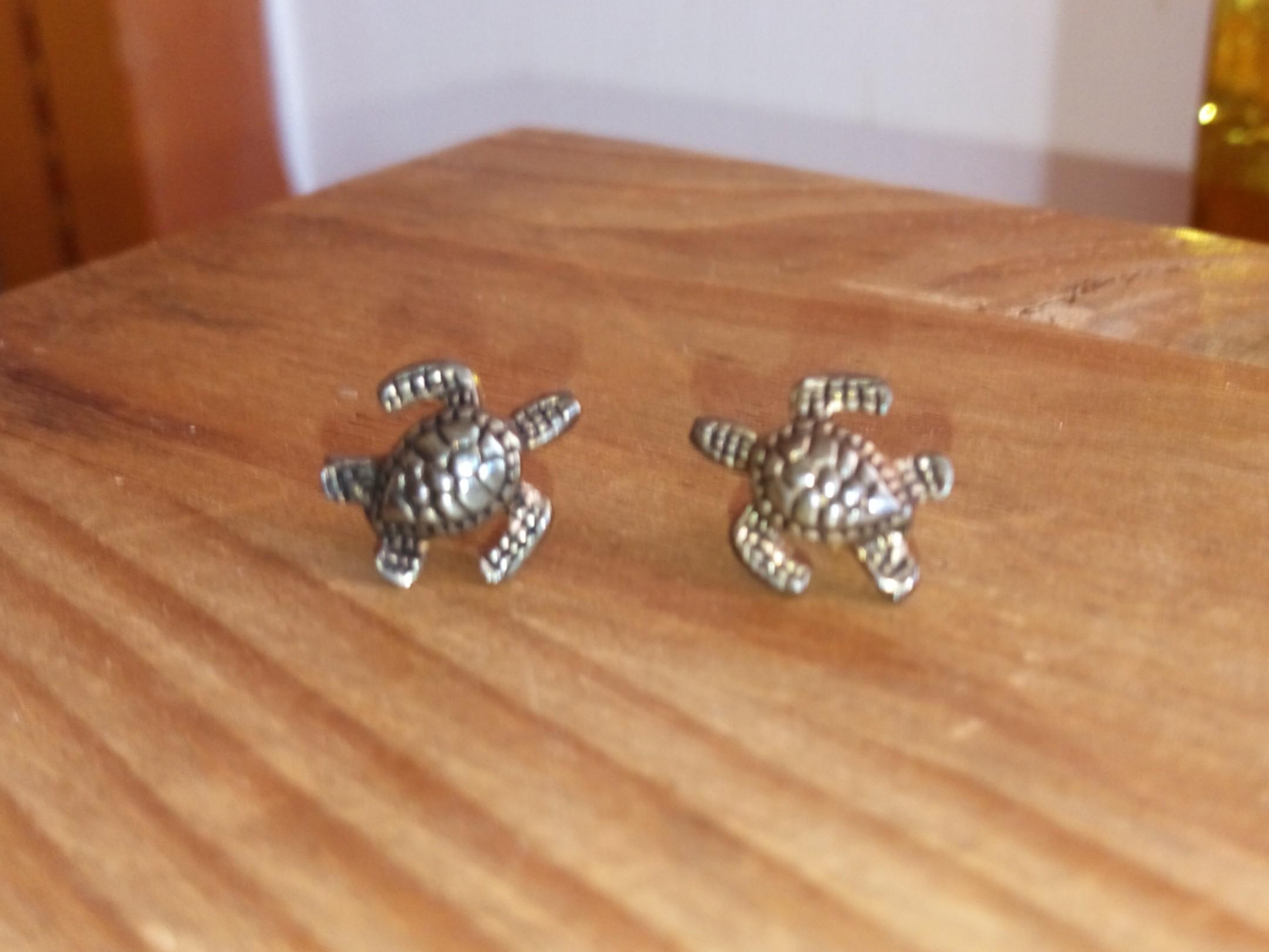 海龜造型耳環#年終