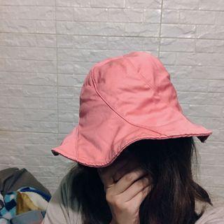 珠光粉花朵 漁夫帽