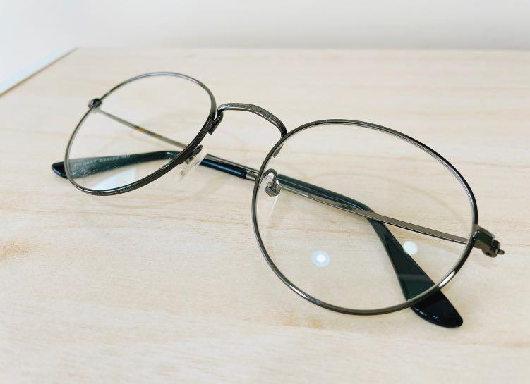 復古圓形平光鏡潮流眼鏡框 #家用