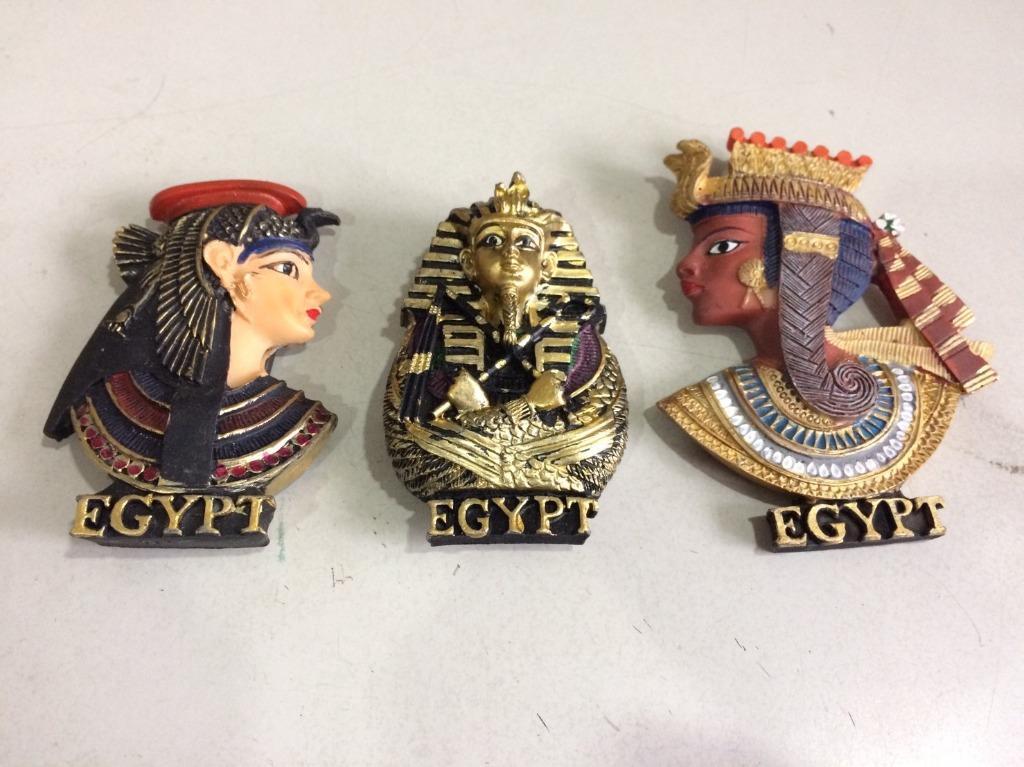「環大回收」♻二手 早期 整套【埃及 Egypt 神秘法老王 美艷蒂芙娜娜】造型磁鐵 冰箱貼 磁力磁貼 懷舊收藏 手工