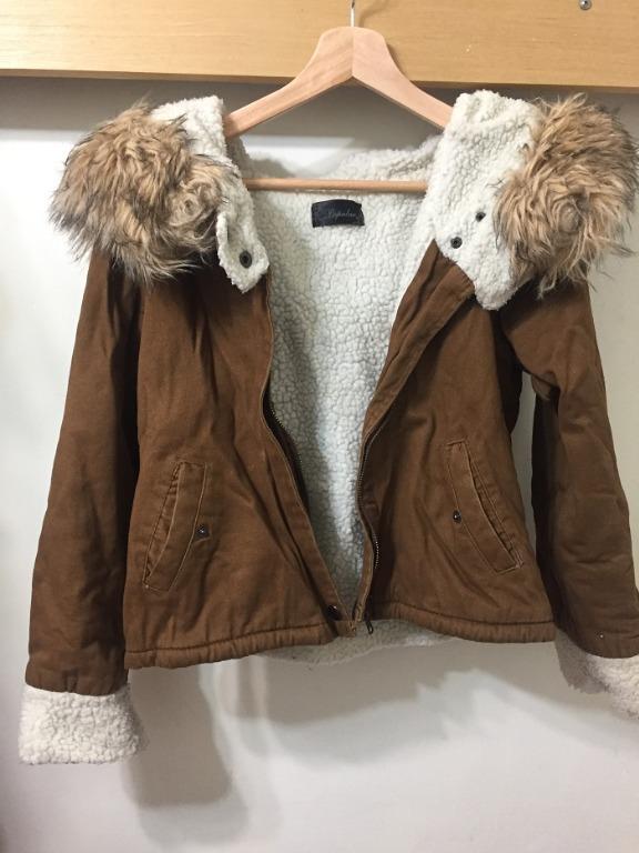 [二手] 咖啡色內裡舖棉外套 brown jacket with padded cotton