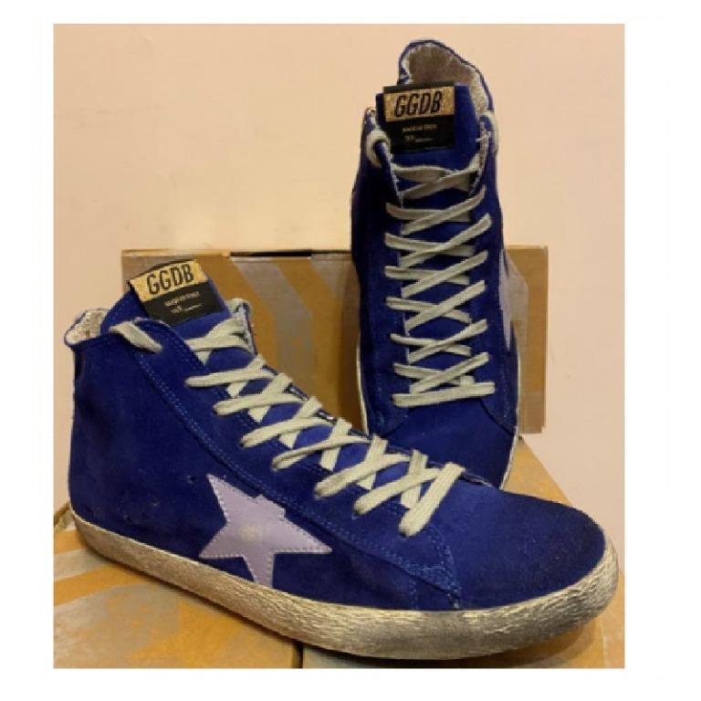 正品/二手 Golden Goose 高統運動鞋 / 髒髒鞋 深藍色