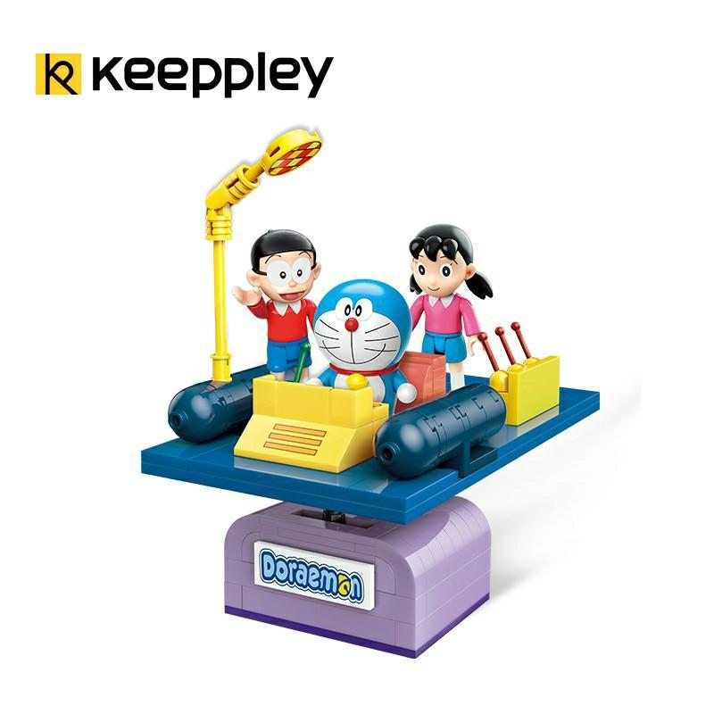 啟蒙 K20401  正版授權 哆啦A夢系列  時光機 大雄 靜香 小叮噹 哆啦A夢/相容樂高