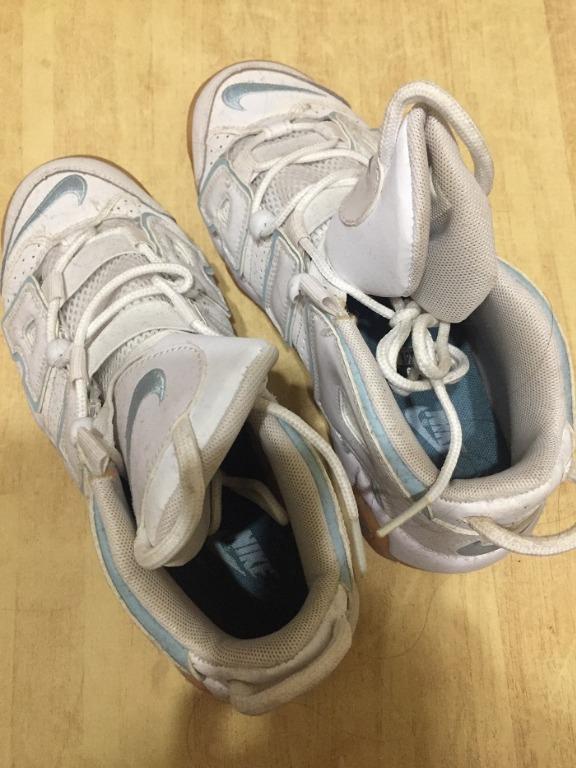 [二手] NIKE AIR MORE UPTEMPO 大AIR 921948-109 白底藍框運動鞋 籃球鞋