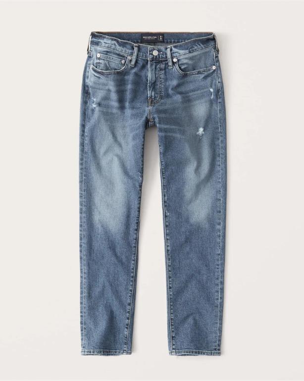 【全新】Abercrombie & Fitch 修身錐形窄管牛仔褲 Slim Taper Jeans
