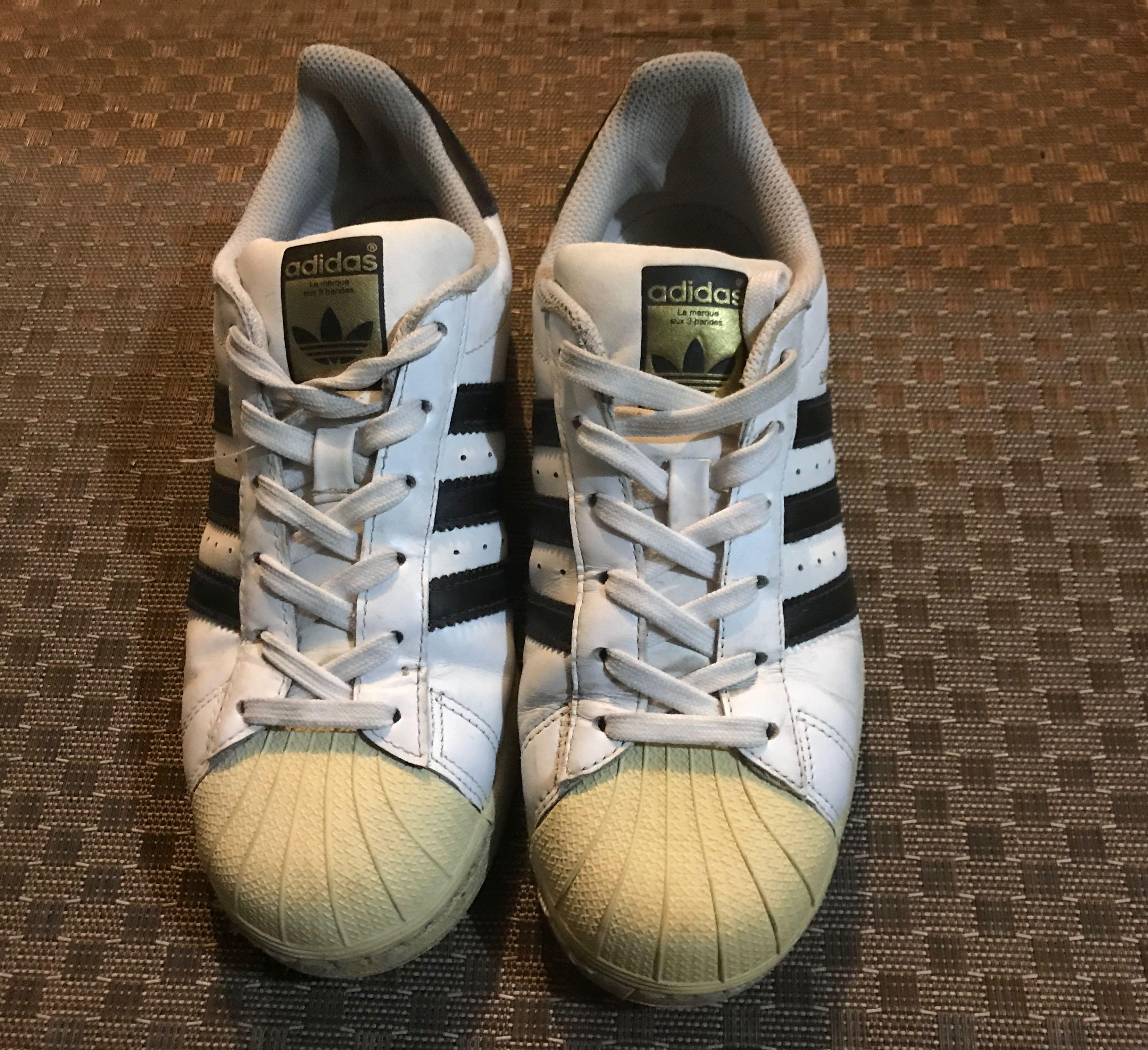 adidas經典款 白黑 金標
