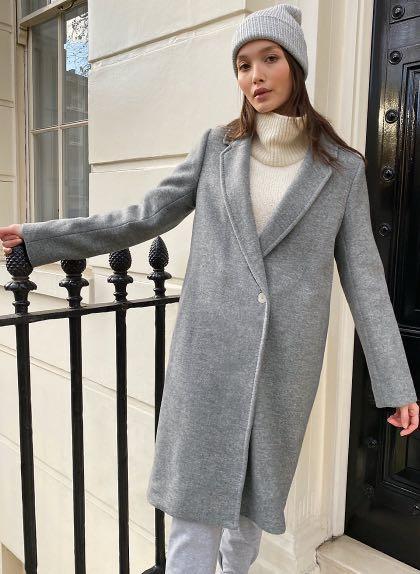 Aritzia Stedman Coat - Heather Grey ✨