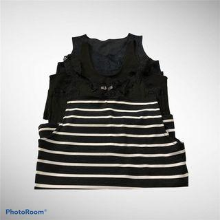 (3 for 120) Assorted Black Tank Tops